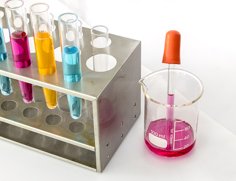 laboratory pipette wiith test tube